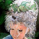 Clara's Honeysuckle and Sunlit Curly Locks by Karen L Ramsey