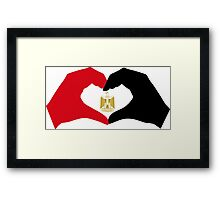 I Heart Egypt Patriot Flag Series  Framed Print