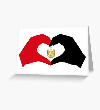 I Heart Egypt Patriot Flag Series  Greeting Card