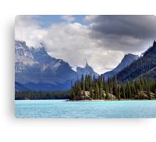 Spirit Island and Mountains Canvas Print