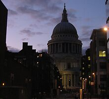 St. Paul's Cathedral at Dusk by ValeriesGallery
