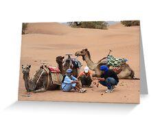 Three wise men (Sahara desert, Morocco) Greeting Card