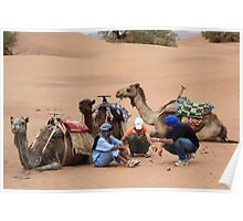 Three wise men (Sahara desert, Morocco) Poster
