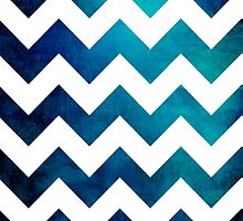 Teal Chevron by Brazen Edwards