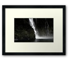 In the Hall of the Mountain King- Cascade. Framed Print