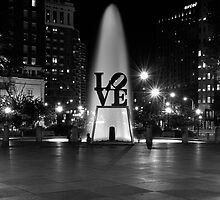 Love Park in Black and White by Daniel Coe