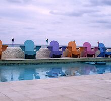 Compass Point Chairs, Nassau, Bahamas by Ann Marie Donahue