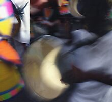 An Abstract Shot of Junkanoo in Nassau, Bahamas by Ann Marie Donahue