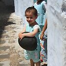 Kids in the Chefchaouen medina (Morocco) by Christine Oakley
