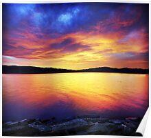 Celestial Sunset Poster