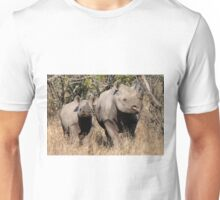 Black Rhino mother and baby (2) (Diceros Bicornis) Unisex T-Shirt