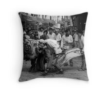Chinese Lion Dancing Throw Pillow
