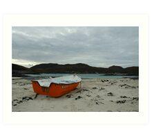 Red Boat at Sanna Art Print