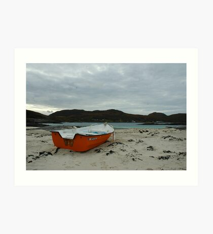 Red Boat at Sanna Art Print