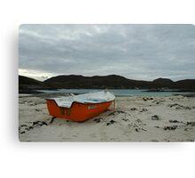 Red Boat at Sanna Canvas Print