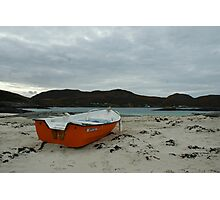 Red Boat at Sanna Photographic Print