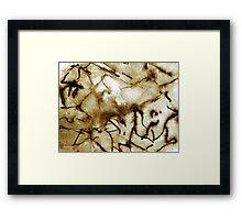 Primitive Cave Art Framed Print
