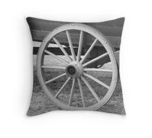Old Wagon Wheel Close-up Throw Pillow