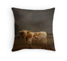 Texas Long Horn Throw Pillow