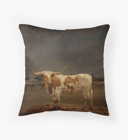 Texas Long Horn Throw Pillow
