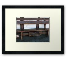 For Old & Weary Legs Framed Print