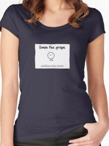 Simon The Grape Women's Fitted Scoop T-Shirt