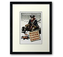 Valley Forge Soldier -- WW2 Propaganda Framed Print