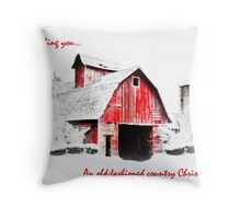 Old Fashioned Country Christmas Throw Pillow