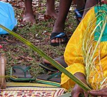 Basket Weaving in Fiji Sticker