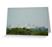 The City of London from Richmond Park Greeting Card