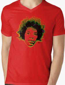 Psychedelic guitar god Mens V-Neck T-Shirt
