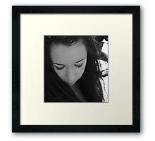 I cannot let you break my heart again.  Framed Print