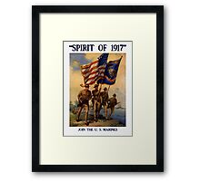 Join The US Marines -- Spirit Of 1917 Framed Print