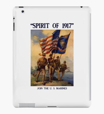 Join The US Marines -- Spirit Of 1917 iPad Case/Skin