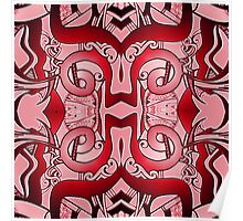 Patterns in Red  Poster