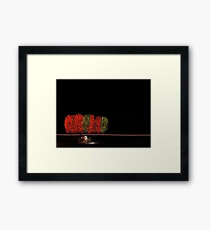 Chatfield Trees and Sleigh Framed Print
