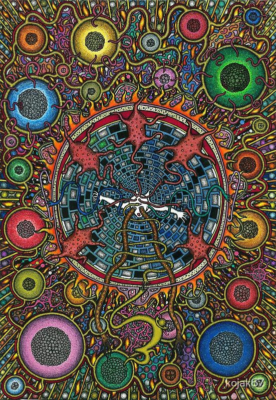 Separation, Ink & Pencil by RIYAZ POCKETWALA
