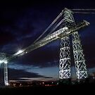 Newport Transporter Bridge nightlight by opiumfire