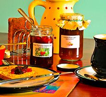 Home-Made Jam & Toast with a Cappuccino by DonDavisUK