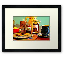 Home-Made Jam & Toast with a Cappuccino Framed Print