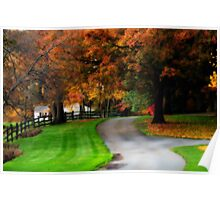 New England Country Scene Poster