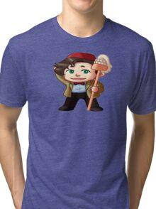 Chibi 11th Doctor Tri-blend T-Shirt