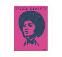 FoxY Brown Art Print