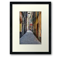 Alley Genoa Framed Print