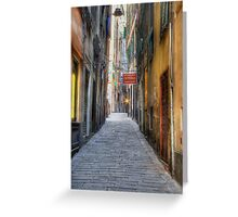 Alley Genoa Greeting Card