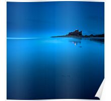 Bamburgh Blue Poster
