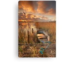 Old Boat, Strumpshaw Fen, Norfolk Metal Print