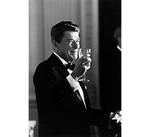 President Reagan Making A Toast Photographic Print