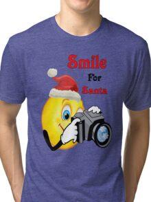 Smile for Santa Tri-blend T-Shirt
