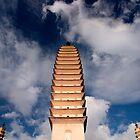 Three Pagodas - Dali, China by Alex Zuccarelli